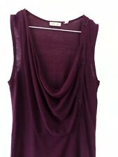 Silence & Noise Anthropologie Womens Knit Sleeveless Top Jumper Cotton Purple S
