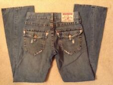 EUC! Mens True Religion Joey Row 28 Seat 33 Destroyed Flare Jeans Handsome Style