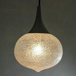 "Frosted Big Bubble Doria Pendant Lamp - diam. ap. 13,4"" Mid Century 50s 60s"