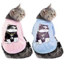 Cat Clothes for Cats Pet Coat Kitten Sweatshirt Puppy Dog Jacket Vest Costume