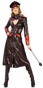 Corporal Punishment Dominatrix Vinyl Fancy Dress Halloween Sexy Adult Costume
