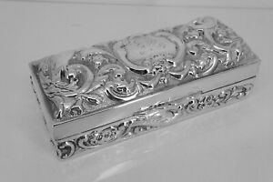 Wonderful William Comyns & Sons Repousse Silver Edwardian 1903 Ring Box. NICE1