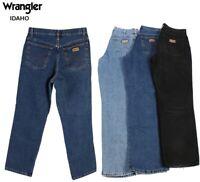 Vintage Wrangler Idaho Mens Regular Fit Straight Jeans 26W to 44W