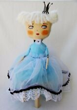 Art textile doll, cloth stuffed doll, mixed media doll, Alice in Wonderland