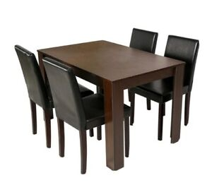 Walnut Dining table and 4 chairs brand new