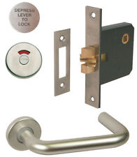 Disabled Lift To Lock Sliding Door Facility Toilet Handle WC Indicator Bolt