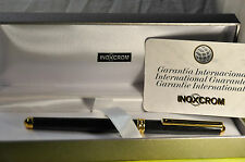 """Inoxcrom"" 2002 Gray  marble&GT Spainish Fountain Pen Circa 1996's w/Orig.Box"