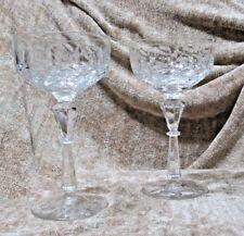 Beautiful Vintage Sherbet  Pressed Glass/Goblet Stemware - Lot of 2