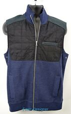 INC International Concepts thin Quilted Zip Up Sleeveless knit top coat SZ M NEW
