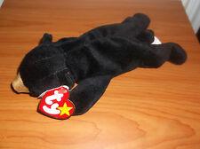 Blackie Ty Beanie Baby Bear 9 errors 1st Gen MINT PVC Suface Origiinal RARE 1993