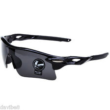 Men's Black Gray Sunglasses Cycling Triathlon Outdoor Biking Running + HARD CASE