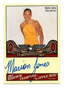 2012 Goodwin Champions Authentic Autograph Marion Jones Olympic Track Sprinter