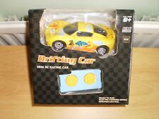 1/36 IR CONTROL R/C YELLOW DRIFTING CAR WITH RUBBER TYRES FULL FUNCTION