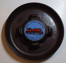 "Roscoe Snyder & Pacific Railway Plastic Ashtray -  6-1/2"" diameter"