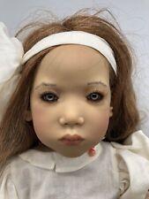 Annette Himstedt Sanfra Doll with Original Vtg 2000 Coa Catalog Girl Italy