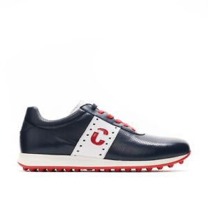 Duca Del Cosma Men's Belair Dimple Golf Shoes - Navy