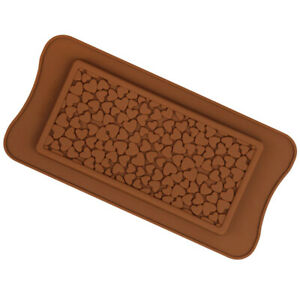 Silicone Chocolate Bar Love Heart Mould Sugarcraft Large Mold Snap Wax Melt