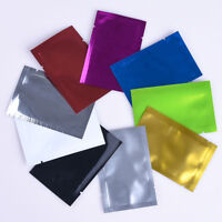 8 Colors Heat Seal Aluminum Foil Bags Mylar Food Storage Vacuum Pouches