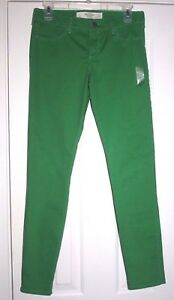 Abercrombie & Fitch GREEN woman's slim jeans 4R w27 NWT $ 68 cotton blend