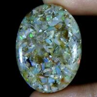 21.70Cts100%Natural Ethiopian Opal Oval Cabochon (33x24x5)Loose Gemstone