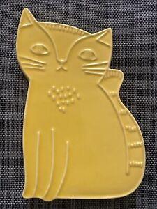 Danica Studio Yellow Stoneware Cat Trivet Ceramic Pottery