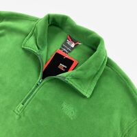 NEW The North Face Mens 1/4 Zip Fleece TKA 100 Microvelour Pullover Ivy Green XL