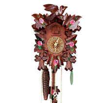 ORIGINAL Hekas Horloge de coucou Forêt Noire Rose NEUF / OVP MONTRE PENDULE