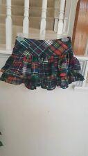 Ralph Lauren Girls Tartan Multi-color Plaid Tiered Skirt Size 7