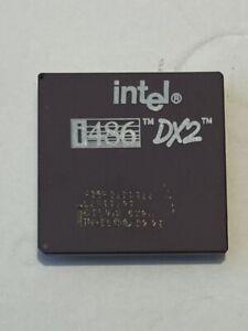 Vintage '92 Intel i486 DX2 Processor CPU Gold