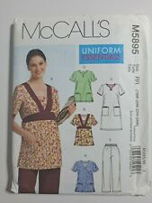McCalls 5895 Womens plus size scrubs pattern sz 18, 20, 22, 24 Uncut Ff