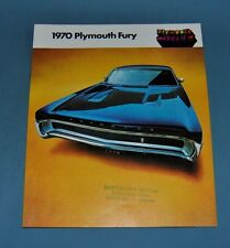 1970 Plymouth Fury Sales Brochure Canadian Old Dealer Stock