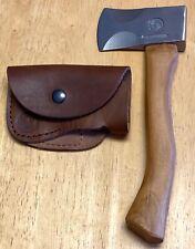 Knives of Alaska Hunter's Hatchet Wood Handle & Leather Scabbard - Mint