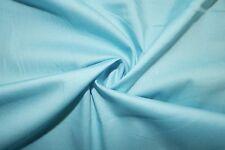 Sky Blue Poplin #17 Cotton Lycra Spandex Stretch Woven Apparel Fabric BTY