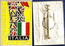 SPILLA EXPOSICION INDUSTRIAL ITALIANA EN SAN SALVADOR 1964  con smalti #541