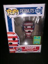 Funko Pop! Peanuts Snoopy Rock The Vote 2016 Convention Exclusive Nib # 139. W/P