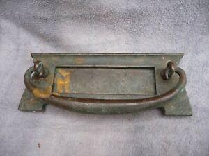 Antique Brass Letter box Door Knocker End Of Art Nouveau Period 1928 Project