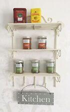 Shabby Chic Shelf Wall Unit French Vintage Cream Storage Display Kitchen Rack