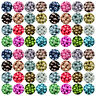 New 10/20/50/100Pcs Round Czech Glass Pearl Shape Beads Colorful 4/6/8/10/12mm