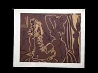 P. Picasso LINOGRAVURE Limited Ed. on Plate Marked WOVEN ppr +Custom FRAMING