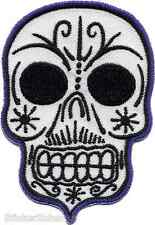 Muertos Skull Embroidered PATCH Iron On Day Of The Dead Artist Kruse RKP25