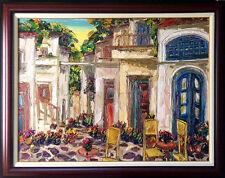 "Maya Eventov ""Terattoria"" Original Acrylic on Canvas, H.Signed ME040908-15"