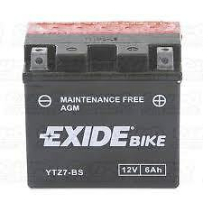 Batterie moto Exide YTZ7-BS 12V 6AH