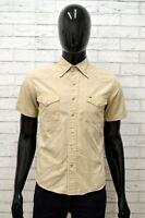 TOMMY HILFIGER Uomo Camicia Camicetta Taglia Size S Maglia Shirt Man Cotone Slim