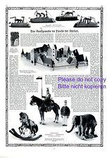 Toys XXL 1911 German report doll room bing rocking horse elefant farm toy ship