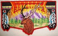 EL KU TA OA LODGE 520 GREAT SALT LAKE COUNCIL BSA STAG RED BORDER SERVICE FLAP