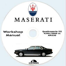 Workshop Manual+Spare Parts,Maserati Quattroporte III,1981,manuale officina