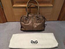 Dolce & Gabbana D&G Brown Leather Shoulder Bag