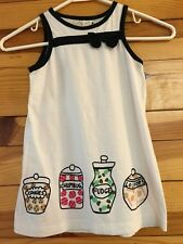 *LAUNDRY CHIC* Girls Cookies Humbug Fudge Lollipops Canister Dress w/Bow Size 4Y