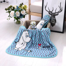 Super Soft Moomin Coral Fleece Baby Newborn Blanket Rug Blankets Quilt New