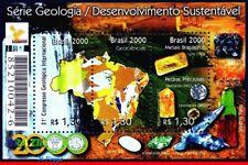 2743 BRAZIL 2000 SUSTAINABLE DEVELOPMENT, GEOLOGY, GEMSTONES, MI# B111 B-114 MNH